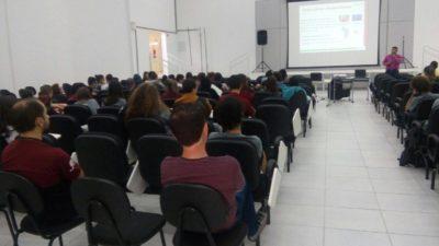 Palestra para cursos médio técnico do 1º 2º e 3º ano em informática no IFC Campus Fraiburgo